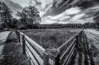 """Hale farm"", ""black and white"", sunny, ""fence"", ""country scene"", ""country"", ""canvas print"", ""metal print"", ""enlargement"", ""high resolution"","