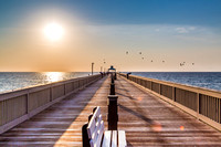"beach, canvas, deerfield, deerfield, enlargement, pier, prints, ""canvas art"", ""metal print"", ""ziclee"", ""sunset"""